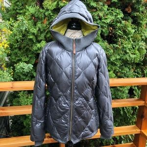 Eddie Bauer Hooded Down Quilted Puffer Jacket